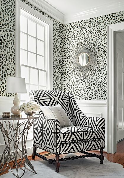 Thibaut Panthera Wallpaper In Black And White